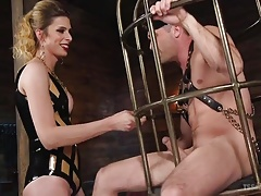 Tall TS Domme Punishes..