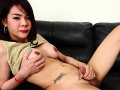 Real ladyboy teases and..