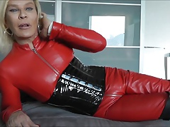 slut leather shemale swallow..