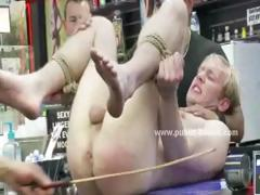 Blond and gay man gets his..