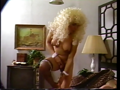 Tall tranny in blonde wig..